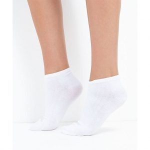Brave Soul Plain White Three Pack Trainer Socks