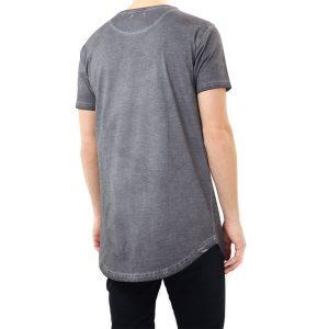 Brave Soul Busted Long Acid Washed T-shirt