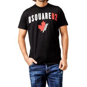 Dsquared2 S74GD0563 Maple Leaf Logo T-shirt Herr